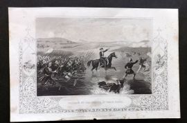 Tyrrell Crimean War 1858 Antique Print. Passage of the Ingour by Omar Pasha